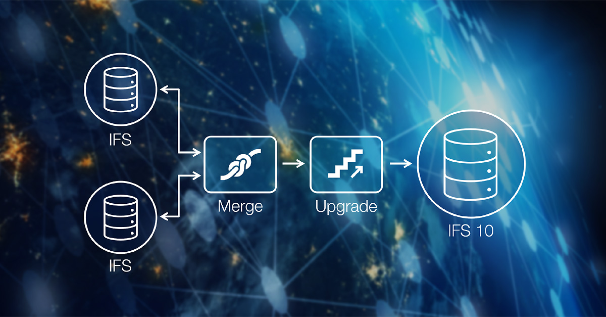 The process of merging and upgrading ERP systems