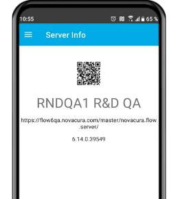 Novacura Flow QR code