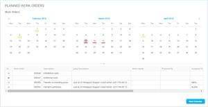 Calendar control in Novacura Flow