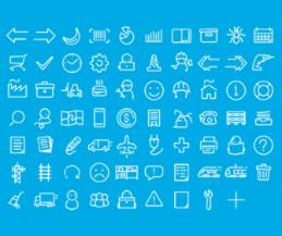 icons white blue