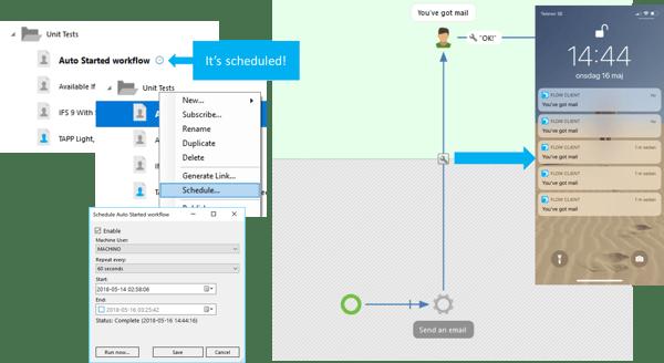 schedule workflow - flow 6.5