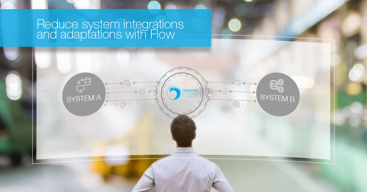 Reduce system integrations and adaptations with the help of Novacura Flow